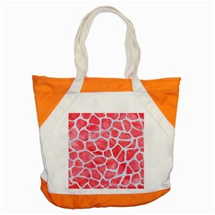 Skin1 White Marble & Red Watercolor (r) Accent Tote Bag by trendistuff