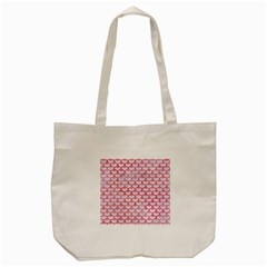 Scales3 White Marble & Red Watercolor (r) Tote Bag (cream) by trendistuff