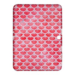 Scales3 White Marble & Red Watercolor Samsung Galaxy Tab 4 (10 1 ) Hardshell Case  by trendistuff