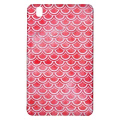 Scales2 White Marble & Red Watercolor Samsung Galaxy Tab Pro 8 4 Hardshell Case by trendistuff
