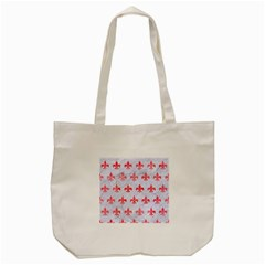 Royal1 White Marble & Red Watercolor Tote Bag (cream) by trendistuff