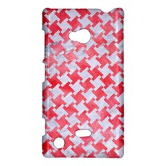 Houndstooth2 White Marble & Red Watercolor Nokia Lumia 720 by trendistuff