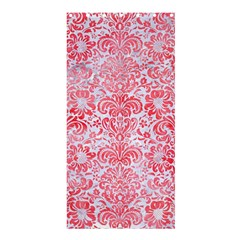 Damask2 White Marble & Red Watercolor (r) Shower Curtain 36  X 72  (stall)  by trendistuff