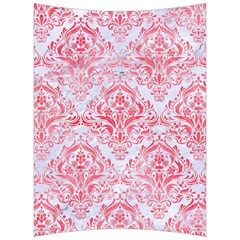 Damask1 White Marble & Red Watercolor (r) Back Support Cushion by trendistuff