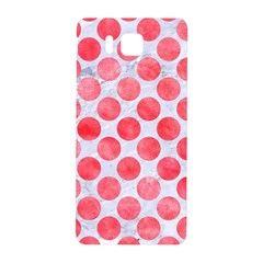 Circles2 White Marble & Red Watercolor (r) Samsung Galaxy Alpha Hardshell Back Case by trendistuff