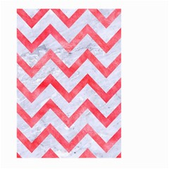Chevron9 White Marble & Red Watercolor (r) Large Garden Flag (two Sides)
