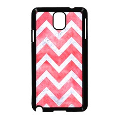 Chevron9 White Marble & Red Watercolor Samsung Galaxy Note 3 Neo Hardshell Case (black) by trendistuff