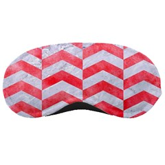 Chevron2 White Marble & Red Watercolor Sleeping Masks by trendistuff