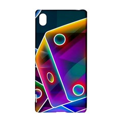 3d Cube Dice Neon Sony Xperia Z3+ by Sapixe