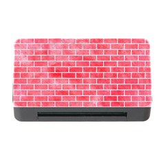 Brick1 White Marble & Red Watercolor Memory Card Reader With Cf by trendistuff