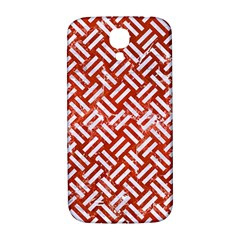 Woven2 White Marble & Red Marble Samsung Galaxy S4 I9500/i9505  Hardshell Back Case by trendistuff