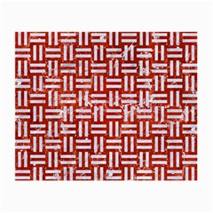 Woven1 White Marble & Red Marble Small Glasses Cloth (2 Side) by trendistuff