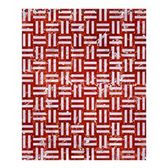 Woven1 White Marble & Red Marble Shower Curtain 60  X 72  (medium)  by trendistuff