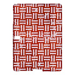 Woven1 White Marble & Red Marble Samsung Galaxy Tab S (10 5 ) Hardshell Case  by trendistuff