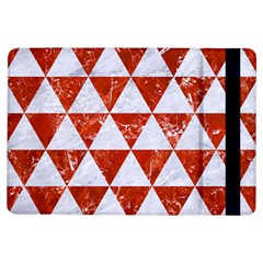Triangle3 White Marble & Red Marble Ipad Air Flip by trendistuff