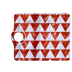 Triangle2 White Marble & Red Marble Kindle Fire Hdx 8 9  Flip 360 Case by trendistuff
