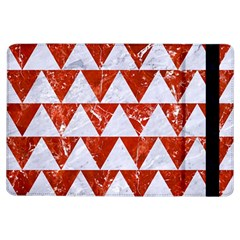 Triangle2 White Marble & Red Marble Ipad Air Flip