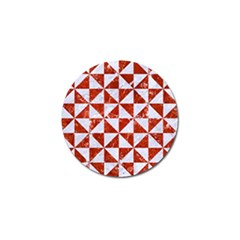 Triangle1 White Marble & Red Marble Golf Ball Marker by trendistuff