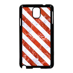 Stripes3 White Marble & Red Marble Samsung Galaxy Note 3 Neo Hardshell Case (black) by trendistuff