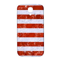 Stripes2white Marble & Red Marble Samsung Galaxy S4 I9500/i9505  Hardshell Back Case by trendistuff