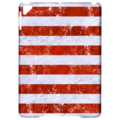 Stripes2white Marble & Red Marble Apple Ipad Pro 9 7   Hardshell Case by trendistuff