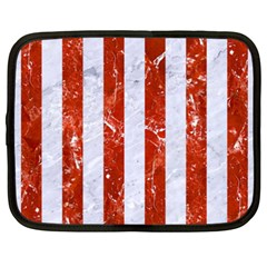 Stripes1 White Marble & Red Marble Netbook Case (xxl)  by trendistuff