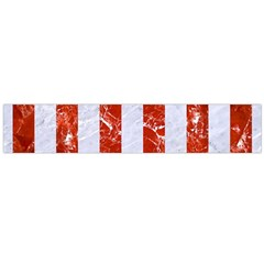 Stripes1 White Marble & Red Marble Large Flano Scarf  by trendistuff