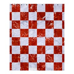 Square1 White Marble & Red Marble Shower Curtain 60  X 72  (medium)  by trendistuff