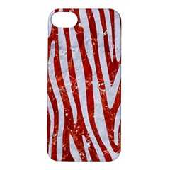 Skin4 White Marble & Red Marble (r) Apple Iphone 5s/ Se Hardshell Case