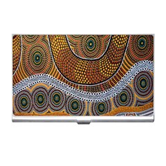 Aboriginal Traditional Pattern Business Card Holders by Sapixe