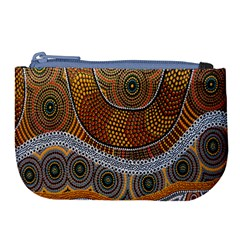 Aboriginal Traditional Pattern Large Coin Purse by Sapixe