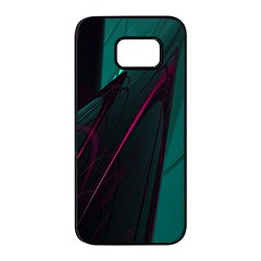 Abstract Green Purple Samsung Galaxy S7 Edge Black Seamless Case by Sapixe