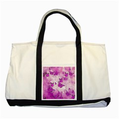 Adorable Butterflies, Pink Two Tone Tote Bag by MoreColorsinLife
