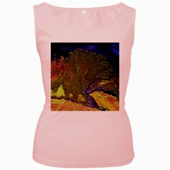 Lena River Delta A Photo Of A Colorful River Delta Taken From A Satellite Women s Pink Tank Top