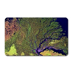 Lena River Delta A Photo Of A Colorful River Delta Taken From A Satellite Magnet (rectangular)