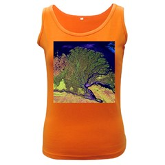 Lena River Delta A Photo Of A Colorful River Delta Taken From A Satellite Women s Dark Tank Top