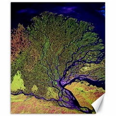 Lena River Delta A Photo Of A Colorful River Delta Taken From A Satellite Canvas 20  X 24