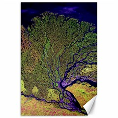 Lena River Delta A Photo Of A Colorful River Delta Taken From A Satellite Canvas 24  X 36