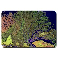 Lena River Delta A Photo Of A Colorful River Delta Taken From A Satellite Large Doormat