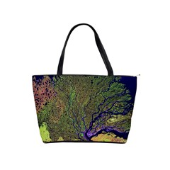 Lena River Delta A Photo Of A Colorful River Delta Taken From A Satellite Shoulder Handbags