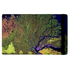 Lena River Delta A Photo Of A Colorful River Delta Taken From A Satellite Apple Ipad 3/4 Flip Case