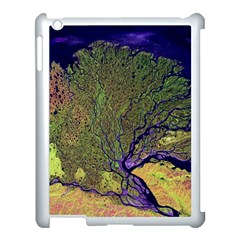 Lena River Delta A Photo Of A Colorful River Delta Taken From A Satellite Apple Ipad 3/4 Case (white)