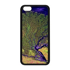 Lena River Delta A Photo Of A Colorful River Delta Taken From A Satellite Apple Iphone 5c Seamless Case (black)