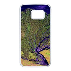 Lena River Delta A Photo Of A Colorful River Delta Taken From A Satellite Samsung Galaxy S7 White Seamless Case