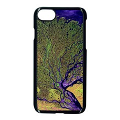 Lena River Delta A Photo Of A Colorful River Delta Taken From A Satellite Apple Iphone 8 Seamless Case (black)