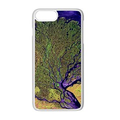 Lena River Delta A Photo Of A Colorful River Delta Taken From A Satellite Apple Iphone 8 Plus Seamless Case (white)