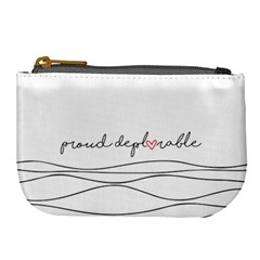 Proud Deplorable Maga Women For Trump With Heart And Handwritten Text Large Coin Purse by MAGA