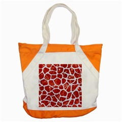 Skin1 White Marble & Red Marble (r) Accent Tote Bag by trendistuff