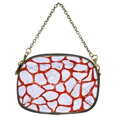 Skin1 White Marble & Red Marble Chain Purses (two Sides)  by trendistuff