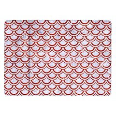 Scales2 White Marble & Red Marble (r) Samsung Galaxy Tab 10 1  P7500 Flip Case by trendistuff